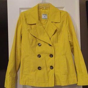Old Navy yellow pea coat